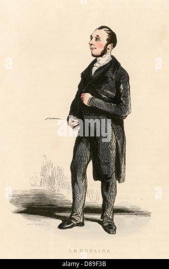 French Notary Gavarni - Stock-Bilder