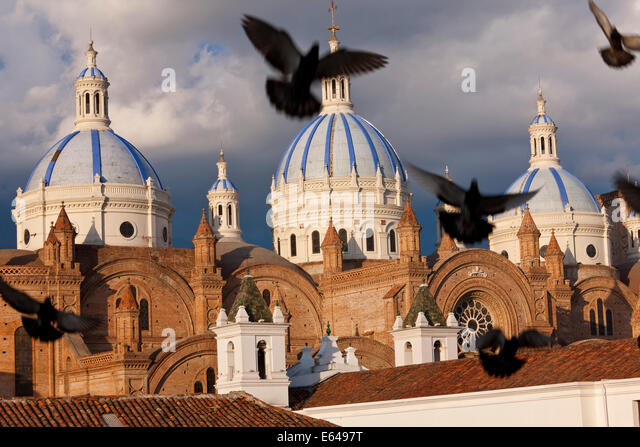 Cathedral of the Immaculate Conception, built in 1885, Cuenca, Ecuador - Stock-Bilder