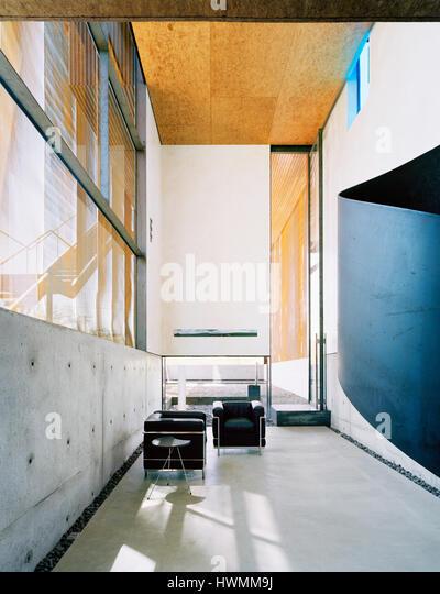 Interior, ground floor studio. Xeros House, Phoenix, United States. Architect: Blank Studio, 2006. - Stock-Bilder