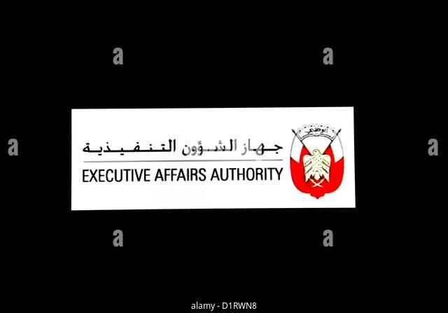 Executive Affairs Authority Of Abu Dhabi Logo - Stock Image