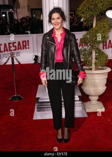 Celebrities attend Premiere Of Universal Pictures' 'Hail, Caesar!' at Regency Village Theatre Los Angeles. - Stock Image