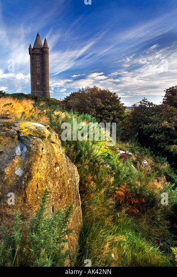 Scrabo Tower, Newtownards - Northern Ireland. - Stock Image