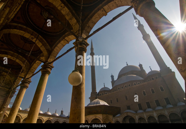 Mosque of Mohammed Ali, Cairo, Egypt, North Africa, Africa - Stock Image