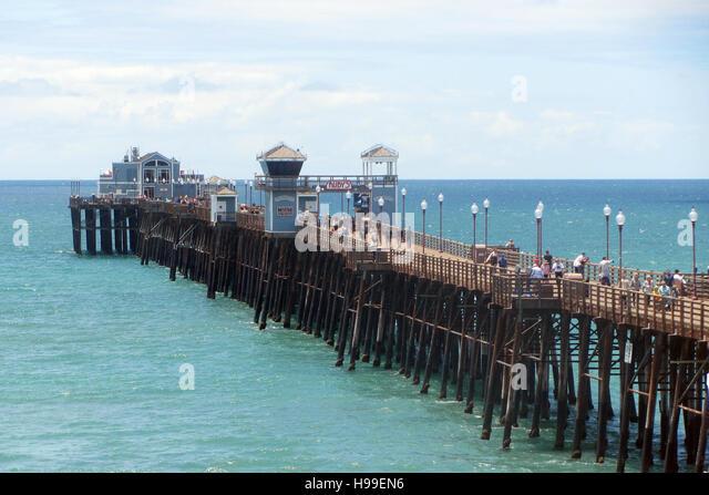 Oceanside pier stock photos oceanside pier stock images for Pier fishing san diego