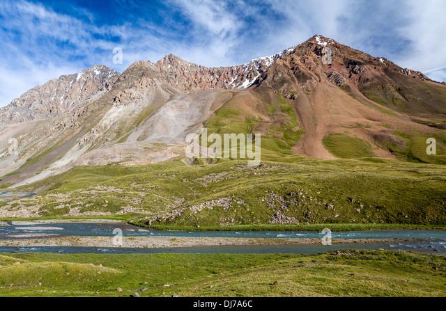 Jil-Suu river in Kyrgyzstan - Stock-Bilder
