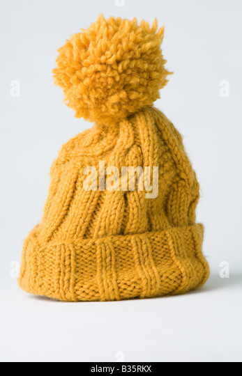 Knit hat, close up - Stock Image