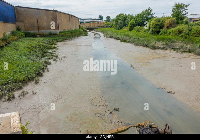Faversham Creek Tide Out Mud Banks Faversham Kent UK - Stock Image