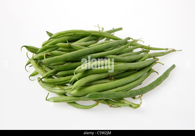 Green beans, close-up - Stock Image