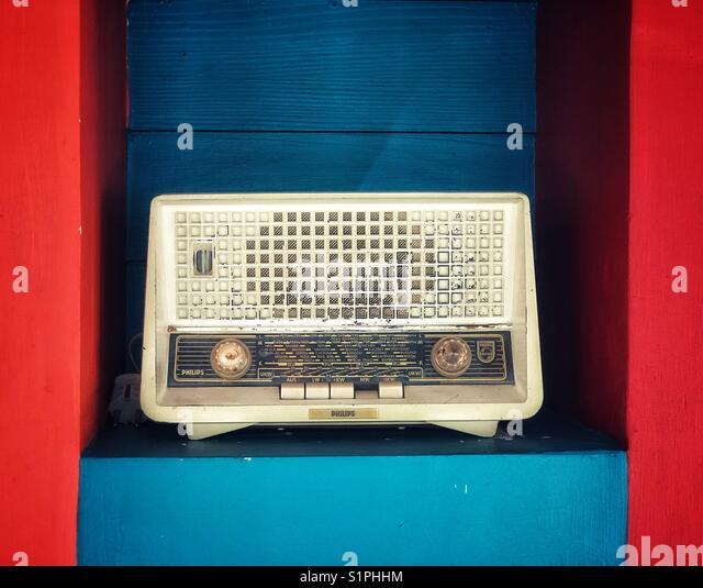 Old Philips Radio - Stock Image