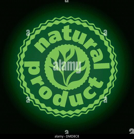 logo printing brand natures product - Stock Image