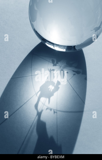 Earth planet,Transparent globe for background - Stock Image