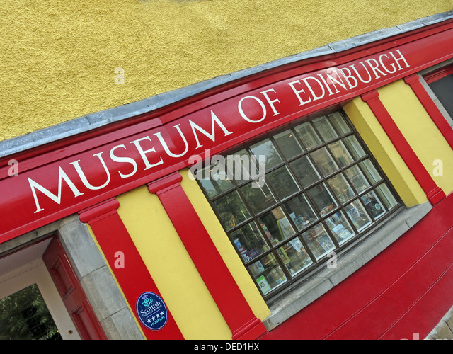 The Museum of Edinburgh - Stock Image