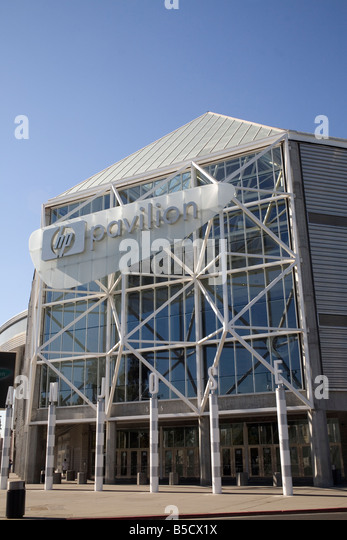San Jose HP Pavilion in San Jose California USA Home of the San Jose Sharks - Stock Image