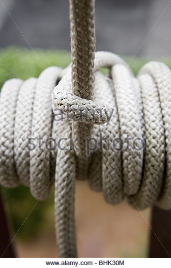 Rope knot - Stock Image