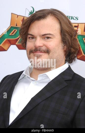 Los Angeles, CA, USA. 16th Jan, 2016. Jack Black at arrivals for KUNG FU PANDA 3 Premiere, TCL Chinese 6 Theatres - Stock Image
