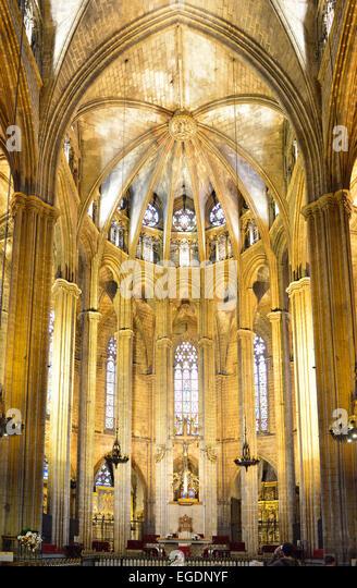 La catedral stock photos la catedral stock images alamy for Catedral de barcelona interior