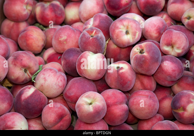 Red Peach close up for background - Stock Image