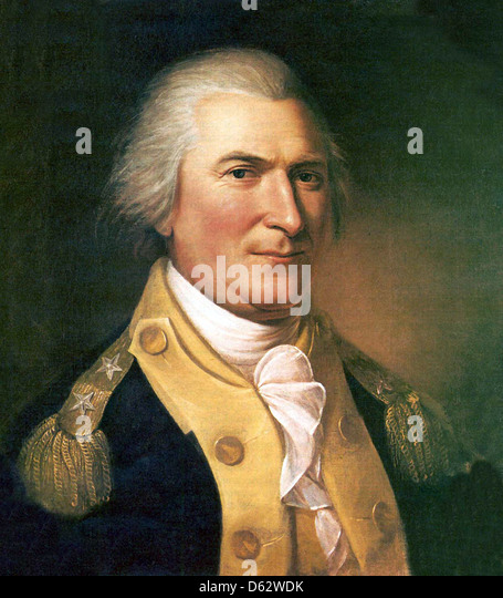 ARTHUR ST. CLAIR (1737-1818) Scottish-born soldier who rose to become a general in the Continental Army. - Stock Image