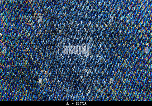 Textured striped blue jeans denim linen fabric background. Design are seamless. - Stock Image