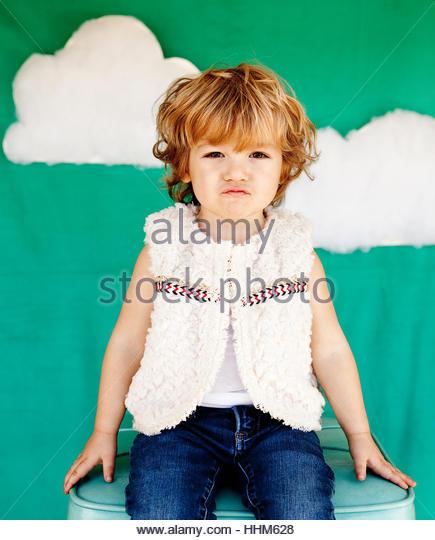 blue skies boy - Stock-Bilder