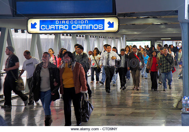 Mexico Mexico City DF D.F. Ciudad de México Federal District Distrito Federal Mexico City Metro subway Chabacano - Stock Image