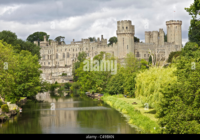 Warwick Castle in Warwickshire, England - Stock Image
