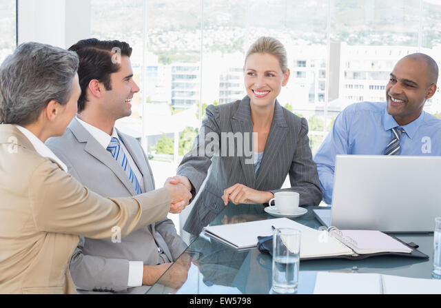 Business team having a meeting - Stock Image