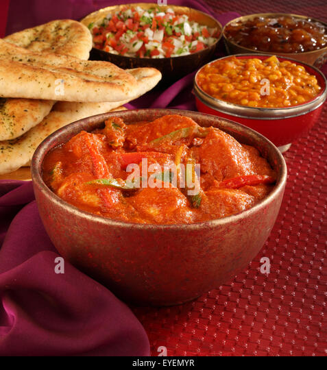 INDIAN CHICKEN JALFREZI CURRY MEAL - Stock Image