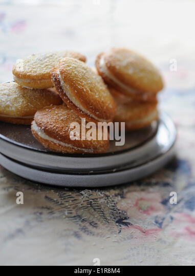 Coconut whoopies - Stock Image