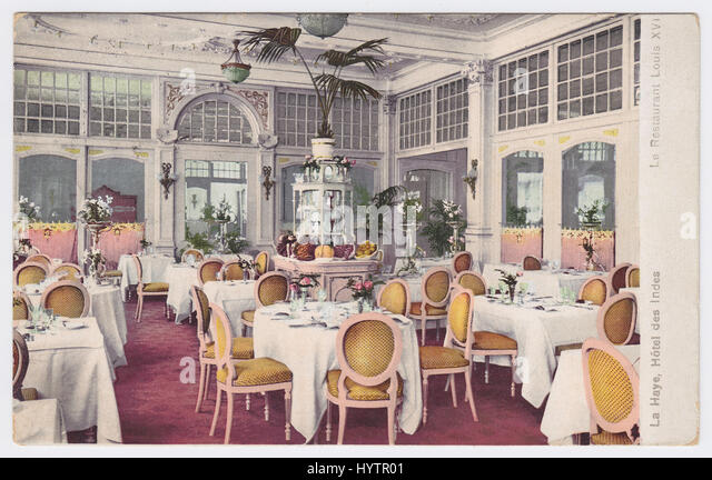 Hotel Des Indes, The Hague, Netherlands, Restaurant Louis XVI - Stock Image