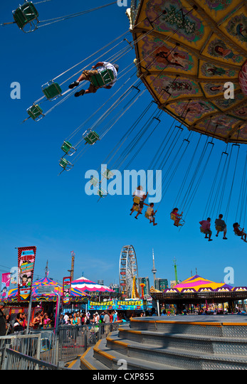 Canadian National Exhibition 2012 Toronto ON Canada. Swing Ride - Stock Image