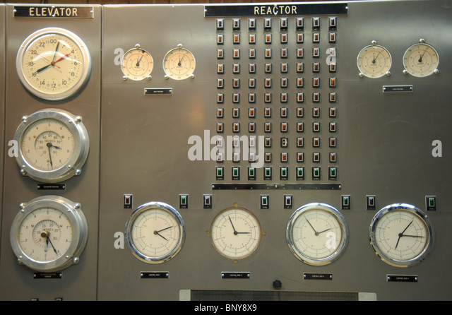 Control room of a nuclear power plant - Stock Image