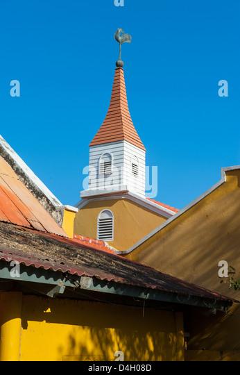 Dutch architecture in Kralendijk capital of Bonaire, ABC Islands, Netherlands Antilles, Caribbean - Stock-Bilder