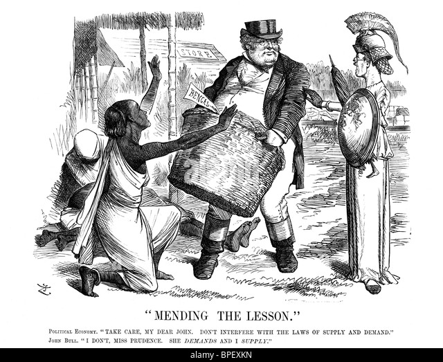 Punch, a British weekly magazine with humor and satire, included this political cartoon in December  20, 1873, about - Stock Image