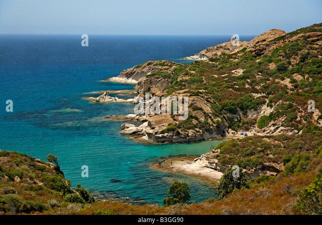 Italy Sardinia west coast between Alghero and Bosa - Stock Image