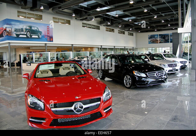 Mercedes showroom stock photos mercedes showroom stock for Mercedes benz dealership san jose