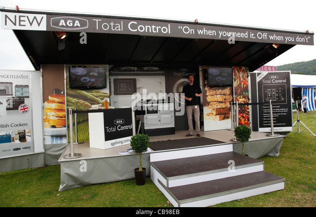Trade Stands Chatsworth Country Fair : Aga oven stock photos images alamy