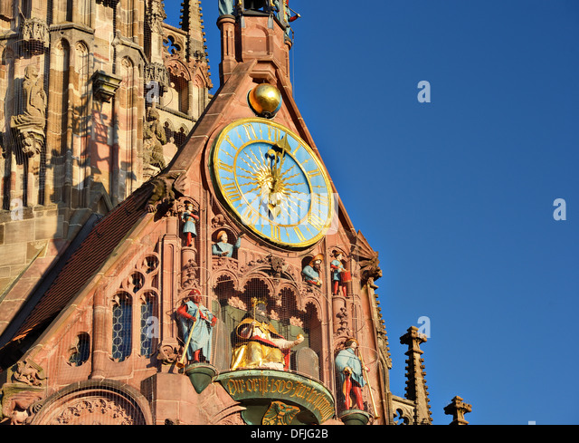 Frauenkirche in Nuremberg, Germany - Stock Image