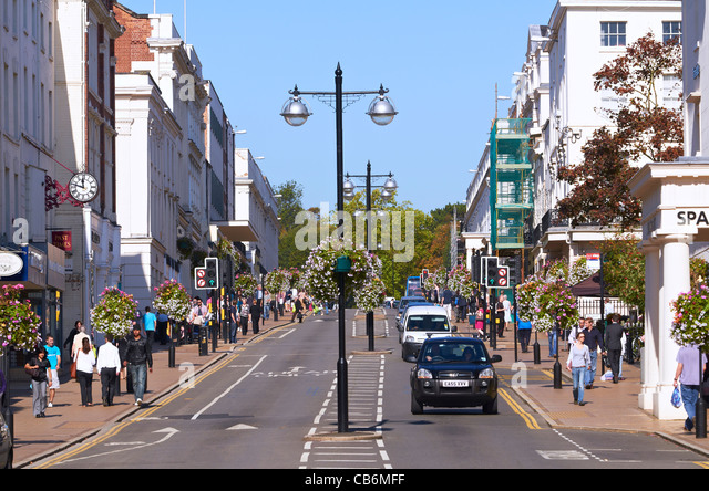 Parade, Leamington Spa, Warwickshire, UK - Stock Image