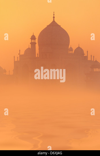Skyline of Taj Mahal, Agra, Uttar Pradesh, India, UNESCO - Stock-Bilder