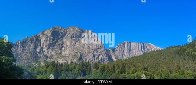 Panorama of Caucasus mountains, Abkhazia, Georgia - Stock Image