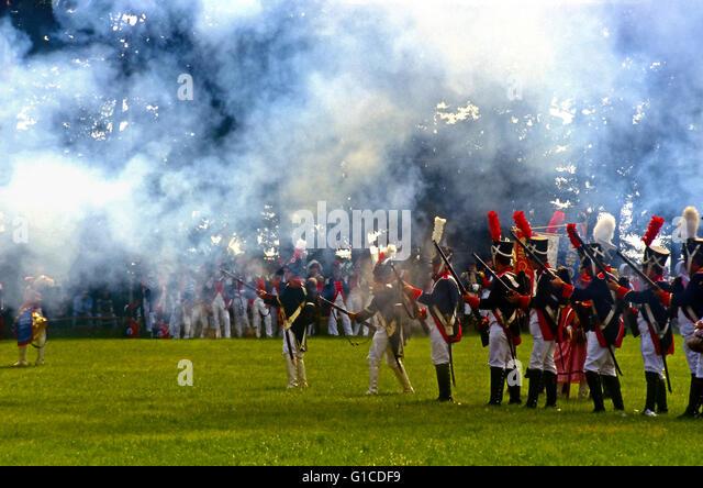 Italy Piedmont Marengo Reenactment of the Battle of Marengo - Stock Image