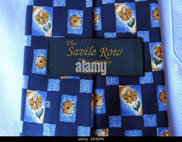 Interesting vintage Savile Row tie Company, male neckware in silk - Stock Image