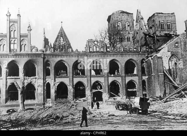 Destroyed Lubeck, 1942 - Stock Image