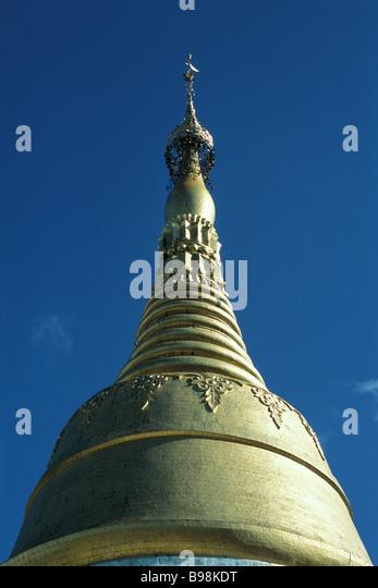 Myanmar (Burma), Yangon (Rangoon), Shwedagon Pagoda - Stock Image