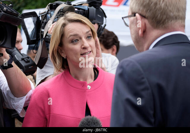 London, UK. 9th June, 2017. Len McCluskey, General Secretary of the Unite union is interviewed by the BBC's - Stock Image