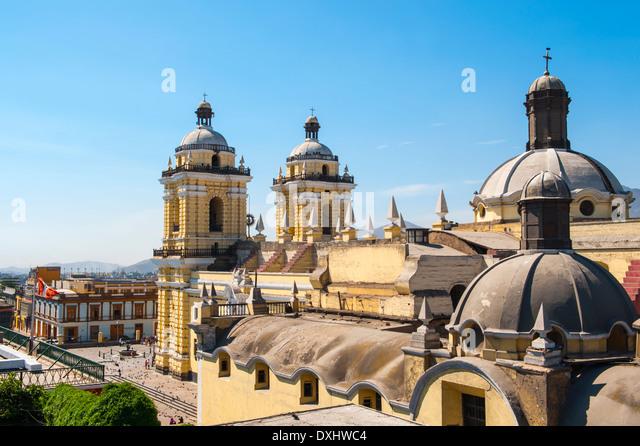 San Francisco monastery, central Lima, Peru - Stock Image