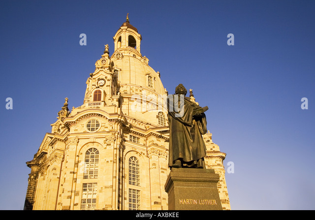 DEU Dresden Frauenkirche after reconstruction inauguration in Oktober 2005 Dresden suffered a near total destruction - Stock Image