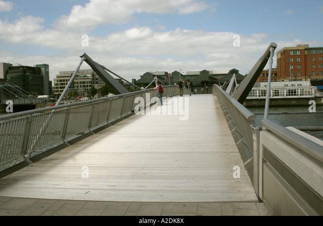 Sir Sean Casey bridge River Liffey Dublin Ireland Eire - Stock Image