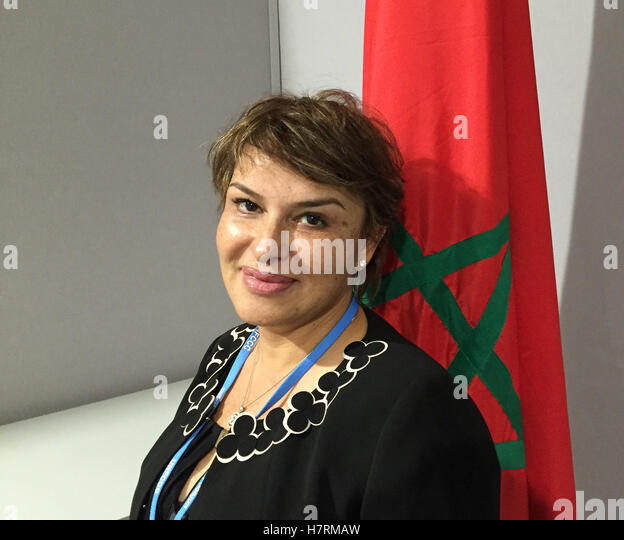 Marrakesh, Morocco. 7th Nov, 2016. Moroccan Minister of the Environment Hakima El Haite, photographed in Marrakesh, - Stock Image